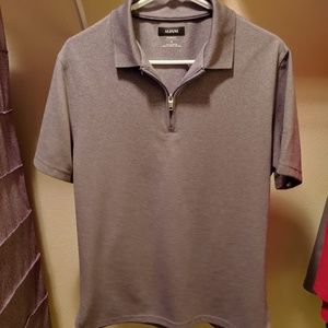 Mens polo shirt with zipper